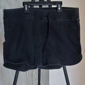 NOBO Black Jean Shorts with Drawstring Waist